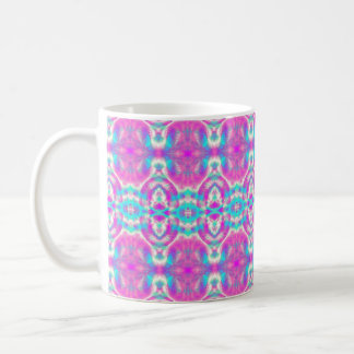 Pink and Blue Abstract Pattern Coffee Mug