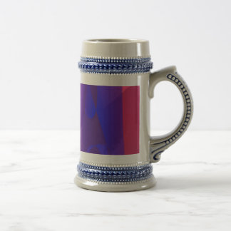 Pink and Blue Abstract World Coffee Mugs