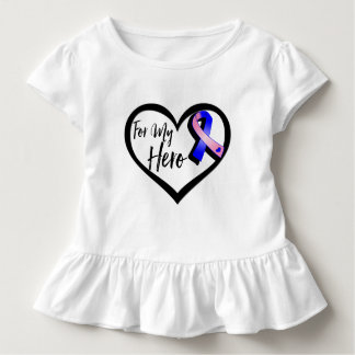 Pink and Blue Awareness Ribbon For My Hero Tshirts