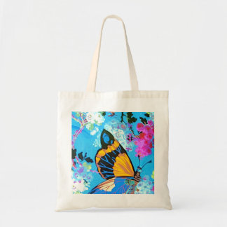 Pink and Blue Butterfly Budget Bag