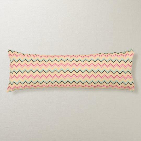Pink And Blue Chevron Geometric Pattern Body Pillow