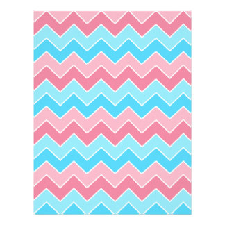 Pink and Blue Chevron Letterhead