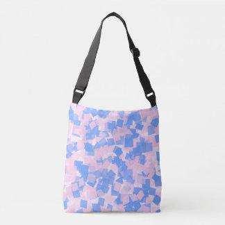 Pink and Blue Confetti Crossbody Bag