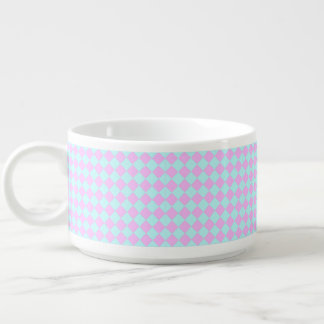 Pink And Blue Diamonds Bowl