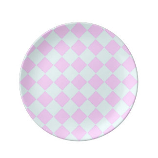 Pink And Blue Diamonds Plate
