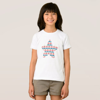 Pink and blue dotted star T-Shirt