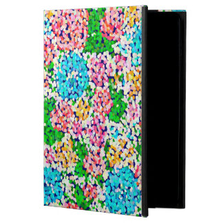 Pink And Blue Floral Glitter iPad Air Case