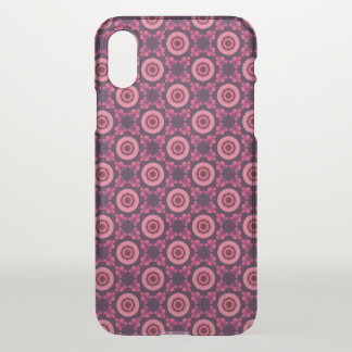 Pink And Blue Flower Pattern iPhone X Case