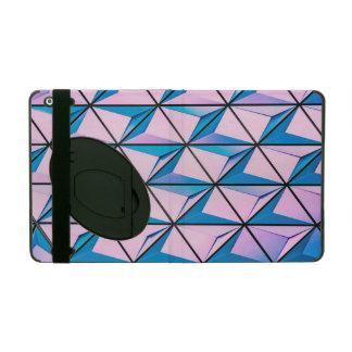 Pink and Blue Geometric Pattern iPad Folio Case