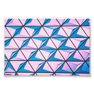 Pink and Blue Geometric Pattern Photo Print