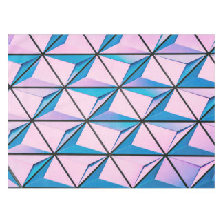 Pink and Blue Geometric Pattern Tablecloth
