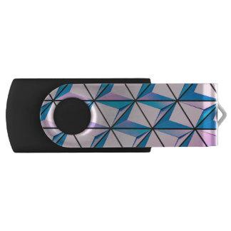 Pink and Blue Geometric Pattern USB Flash Drive