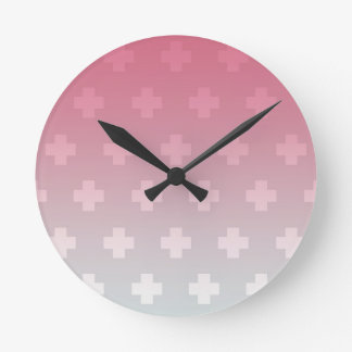 Pink and Blue Gradient Clock