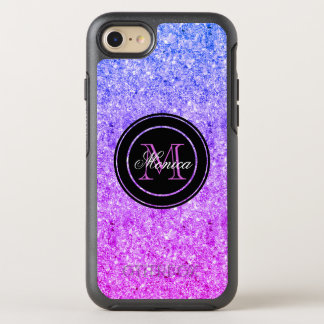 Pink And Blue Gradient Glitter OtterBox Symmetry iPhone 7 Case