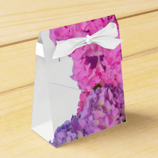 Pink and Blue Hydrangea Favor Box