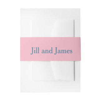 Pink and Blue Invitation Belly Band