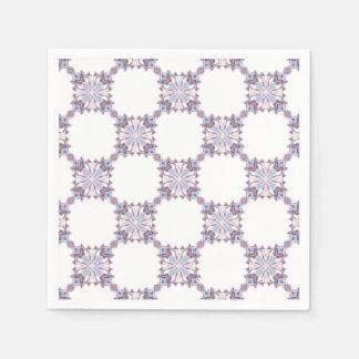Pink and Blue Kaleidoscope Pattern Napkin