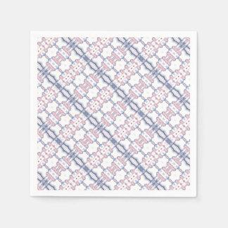 Pink and Blue Kaleidoscope Pattern Paper Napkin