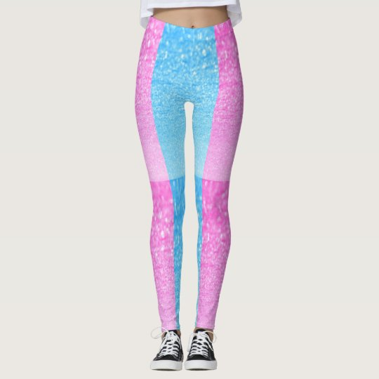 pink and blue leggings