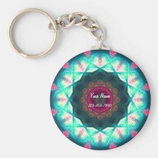 Pink and Blue Mandala Keychain