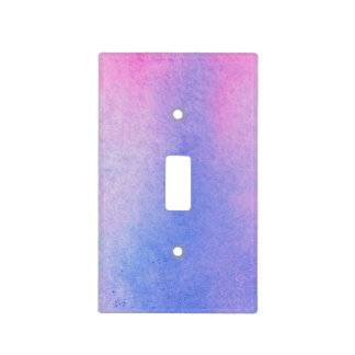 Pink and Blue Marble Watercolour Light Switch Cover