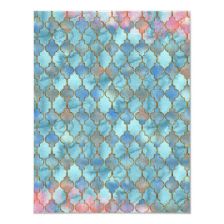 Pink and Blue Maroccan pattern Card