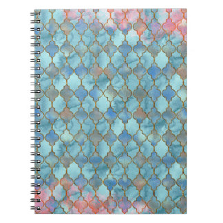 Pink and Blue Maroccan pattern Notebooks