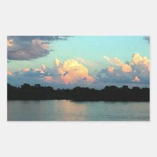 Pink and Blue Mississippi River Sunset Sticker
