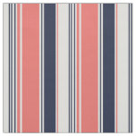 Pink and Blue Modern Stripes Fabric
