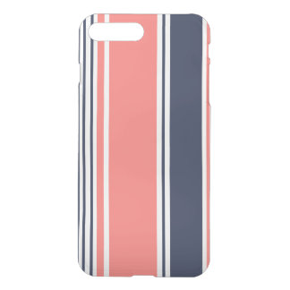 Pink and Blue Modern Stripes iPhone 7 Plus Case