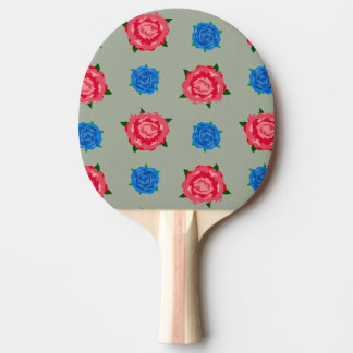 Pink and Blue Pattern on Ping Pong Paddle
