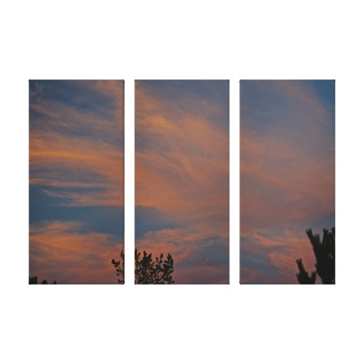 pink and blue sky canvas prints
