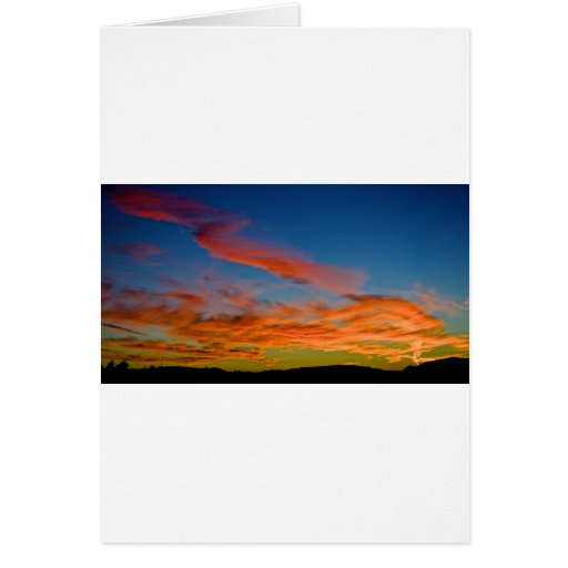 pink and blue sky greeting cards
