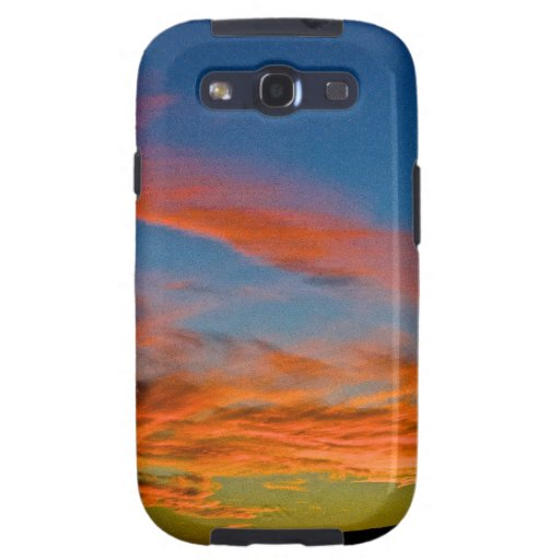 pink and blue sky galaxy s3 cases