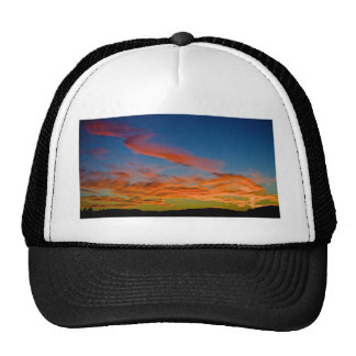 pink and blue sky hat
