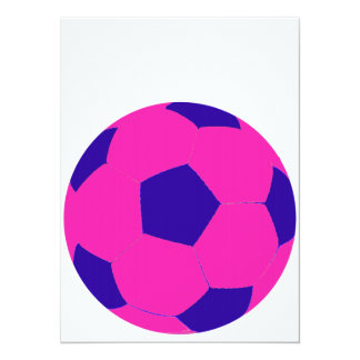 Pink and Blue Soccer Ball Card