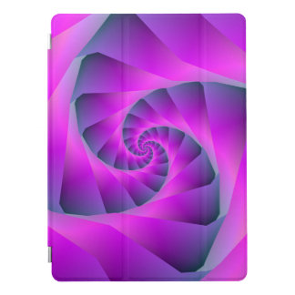 Pink and Blue Spiral iPad Pro Cover