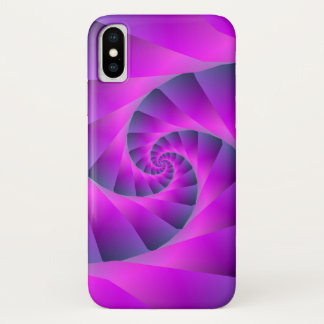 Pink and Blue Spiral iPhone X Case