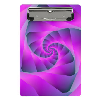 Pink and Blue Spiral Mini Clipboard