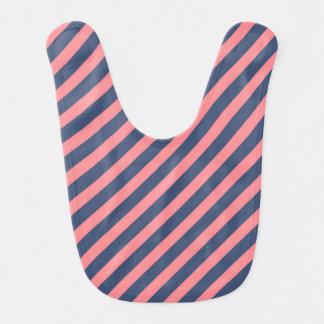 Pink and Blue Striped Bib