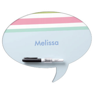 Pink and blue stripes dry erase board