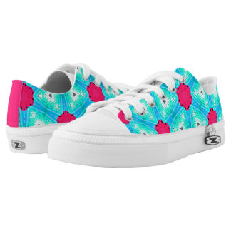 "Pink and Blue ""Sugar and Ice "" Low-Top Sneakers"