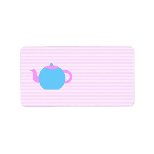 Pink and Blue Teapot Picture.