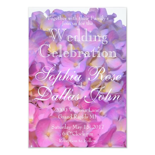 Pink and Blue Wedding collection Card