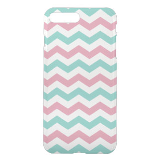 Pink and Blue Zig Zag Pattern iPhone 7 Plus Case