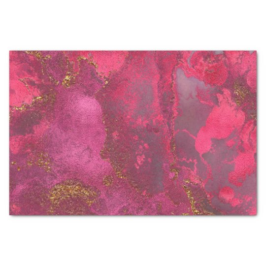 Pink and Blush Rose Gold Ink Gemstone Marble Pink Tissue Paper