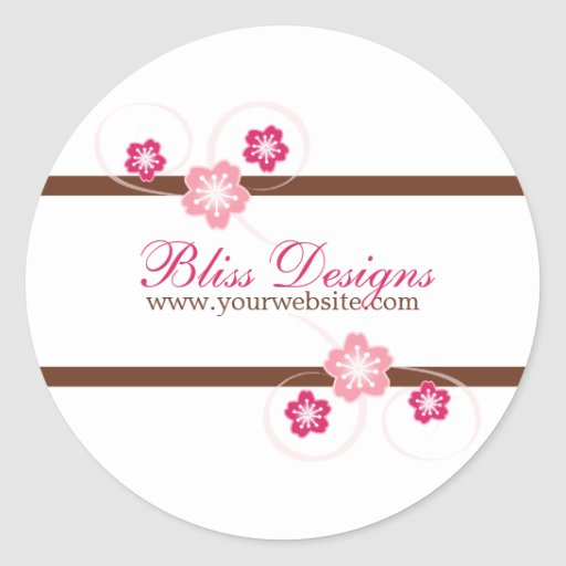 Pink and Brown Cherry Blossom Promo Stickers Sticker