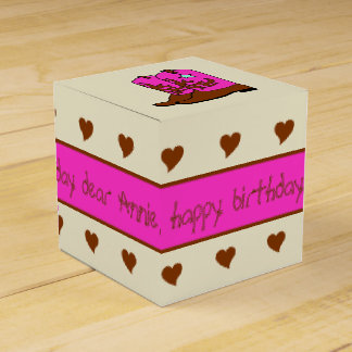 Pink and Brown Cowgirl Birthday Party Favor Box