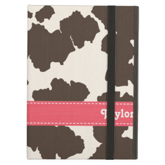 Pink and Brown Cowhide Cover For iPad Air