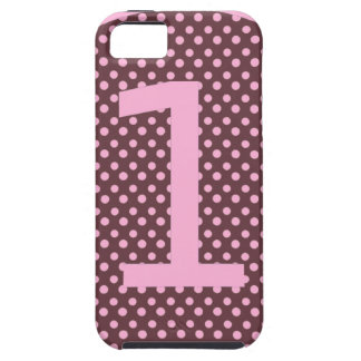 Pink and Brown First Birthday ONE iPhone 5 Covers